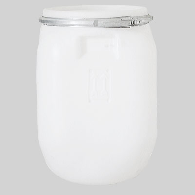 white plastic drum 50 lt